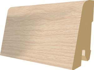 Plinta parchet, 60 x 17 mm, 2,4 m, White Brooklyn Oak